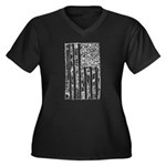 USA! USA! Women's Plus Size V-Neck Dark T-Shirt