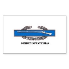 Combat Infantryman's Badge Rectangle Decal
