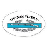 CIB Vietnam Veteran Oval Decal