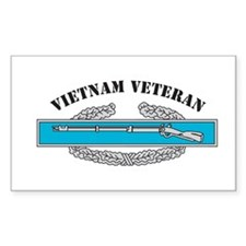 CIB Vietnam Veteran Rectangle Decal