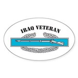 CIB Iraq Veteran Oval Decal