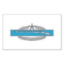 Combat Infantryman's Badge 2n Sticker (Rectangular