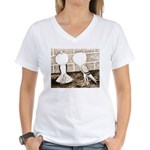 Voorburg Pigeon Pair Women's V-Neck T-Shirt