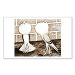 Voorburg Pigeon Pair Rectangle Sticker 10 pk)