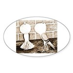 Voorburg Pigeon Pair Oval Sticker (10 pk)