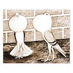 Voorburg Pigeon Pair Small Poster