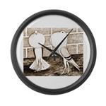 Voorburg Pigeon Pair Large Wall Clock
