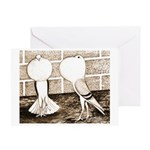 Voorburg Pigeon Pair Greeting Card