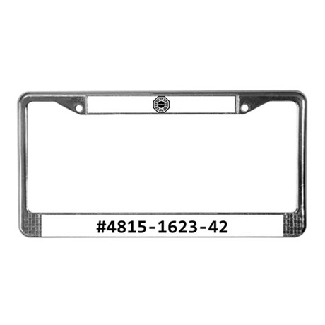 DHARMA 'The Numbers' License Plate Frame