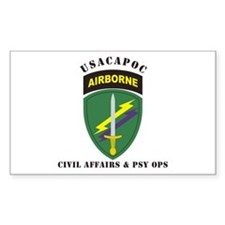 USACAPOC Civil Affairs & Psy Sticker (Rectangular
