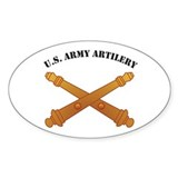 Artillery Branch Insignia U. Oval Decal