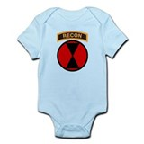 7th Infantry Div with Recon T  Baby Onesie