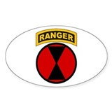 7th Infantry Div with Ranger Oval  Aufkleber