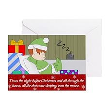 Sleepy Elf Greeting Card