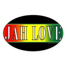 JAH LOVE 3 Oval Decal