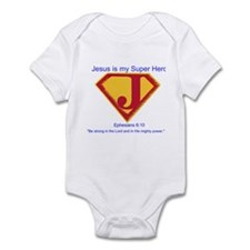 Jesus is My Super Hero Infant Bodysuit