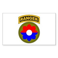 9th Infantry Div with Ranger Rectangle Decal