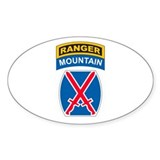 10th Mountain Div with Ranger Oval  Aufkleber