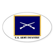 Infantry Flag Oval Decal