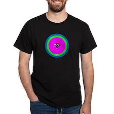 CLARISSA COO-COO BIRD Black T-Shirt