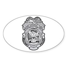 Military Police Badge Oval Decal