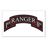 1st Ranger BN Scroll Rectangle  Aufkleber