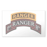 1st Ranger BN Scroll with Ran Rectangle  Aufkleber