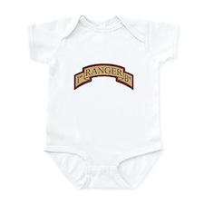 1st Ranger Bn Scroll Desert Infant Bodysuit