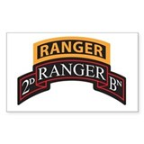 2D Ranger BN Scroll with Rang Rectangle  Aufkleber