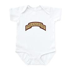 2nd Ranger Bn Scroll Desert Infant Bodysuit