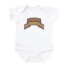 3rd Ranger Bn Scroll/Tab Dese Infant Bodysuit