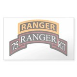 75 Ranger RGT scroll with Ran Rectangle Decal