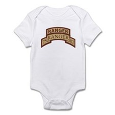75th Ranger Regt Scroll with Infant Bodysuit