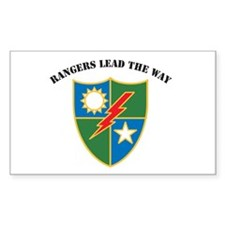 75th Ranger Regiment - Ranger Rectangle Decal