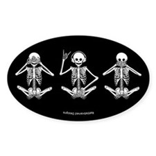 Hear No Evil? Oval Bumper Stickers