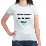 Hairdressers Do It With Style Jr. Ringer T-Shirt