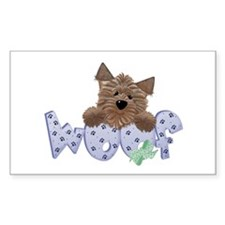 dog woof Rectangle Sticker 10 pk)