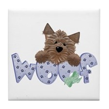dog woof Tile Coaster