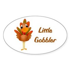 Little Gobbler Oval Sticker (10 pk)