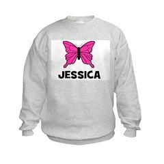 Butterfly - Jessica Kids Sweatshirt