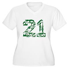 21 Guns Women's Plus Size V-Neck T-Shirt