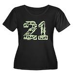 21 Guns Women's Plus Size Scoop Neck Dark T-Shirt