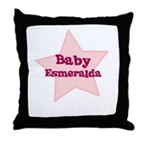 Baby Esmeralda Throw Pillow