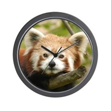 Red Chinese Panda Wall Clock