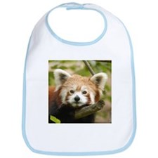 Red Chinese Panda Bib