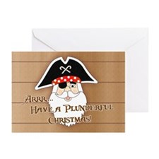 Pirate Santa Greeting Cards (Pk of 10)