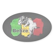Belize Oval Decal
