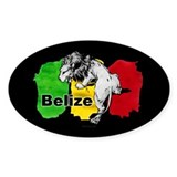 Belize Oval Sticker (10 pk)