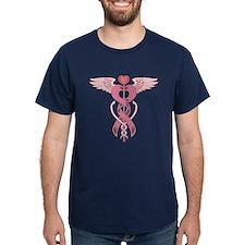 Pink Ribbon Caduceus T-Shirt