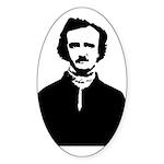 Edgar Allan Poe Sticker (Oval 50 pk)